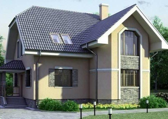 Кирпичный дом с гаражом