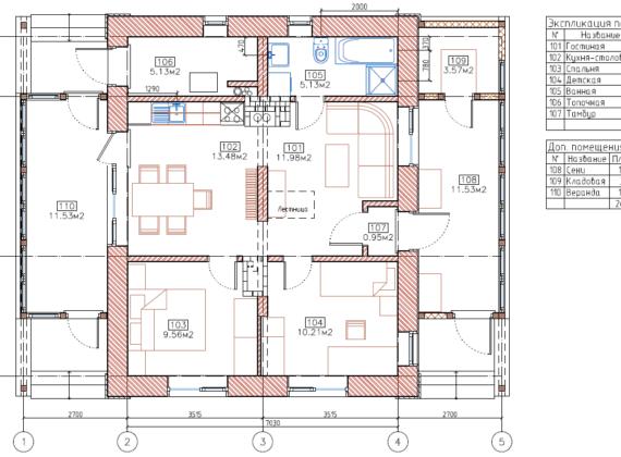План небольшого домика